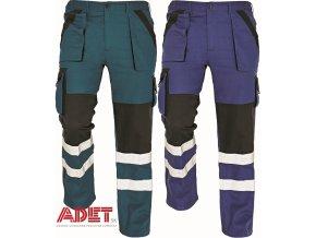 nohavice pracovne reflexne do pasa cerva 03020240 MAX RFLX pants blue 1