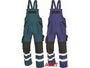 nohavice pracovne s naprsenkou reflexne cerva 03020241 MAX 03020241 bibpants blue 2