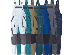 nohavice pracovne s naprsenkou cerva 03020239 MAX SUMMER BIBPANTS grey 1