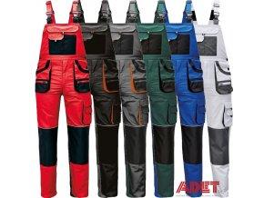 pracovne nohavice cerva s naprsenkou carl be 01 004 001