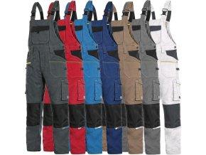 pracovne nohavice s naprsenkou cxs STRETCH 1030027