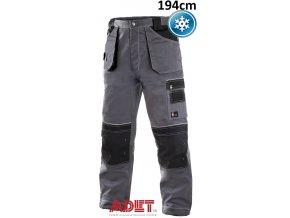 pracovne nohavice do pasa cxs orion TEODOR 1020005710 sedo cierne zateplene predlzene