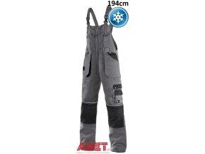 pracovne nohavice s naprsenkou cxs orion KRYŠTOF 1030005710 sedo cierna zateplene predlzene