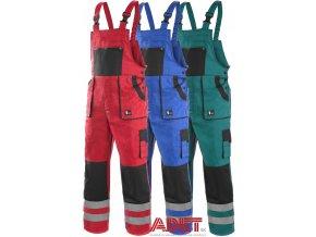 Pracovné odevy - montérkové nohavice na traky CXS LUX BRIGHT