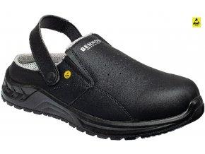 pracovna obuv bennon maxim ob black slipper z60045v60 cierna front