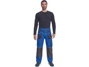 pracovne nohavice promacher myron s naprsenkou sede P71002