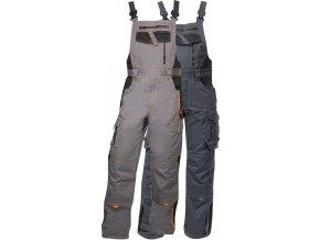 pracovne nohavice ardon vision na traky sive h9149