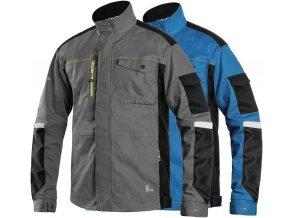 pracovna bluza cxs stretch stredne modra skratena