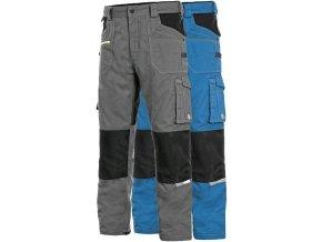 pracovne nohavice cxs stretch do pasa stredne modre skratene