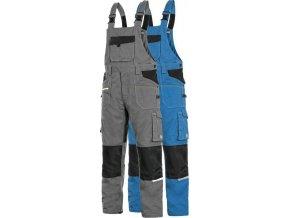 pracovne nohavice cxs stretch na traky stredne modre skratene