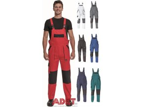 pracovne nohavice na traky cerva max neo