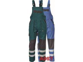 pracovne nohavice na traky cerva neo max reflexne