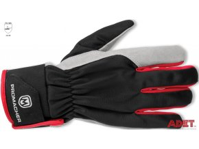 pracovne rukavice promacher carpos velcro gloves grey red