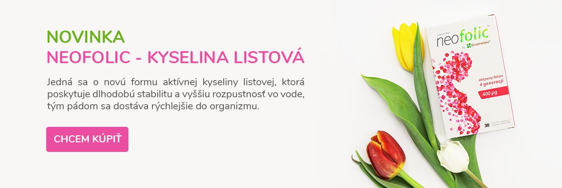 Novinka <b>Neofolic - kyselina listová</b>