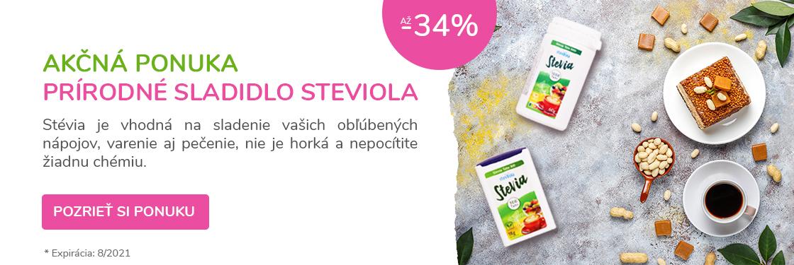 Prírodné sladidlo Stévia v zľave až -34%