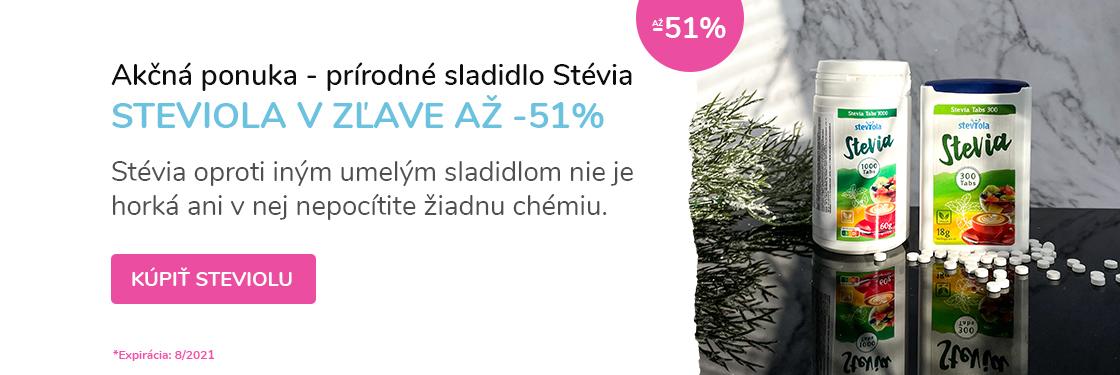 Prírodné sladidlo stévia <b>v zľave</b>