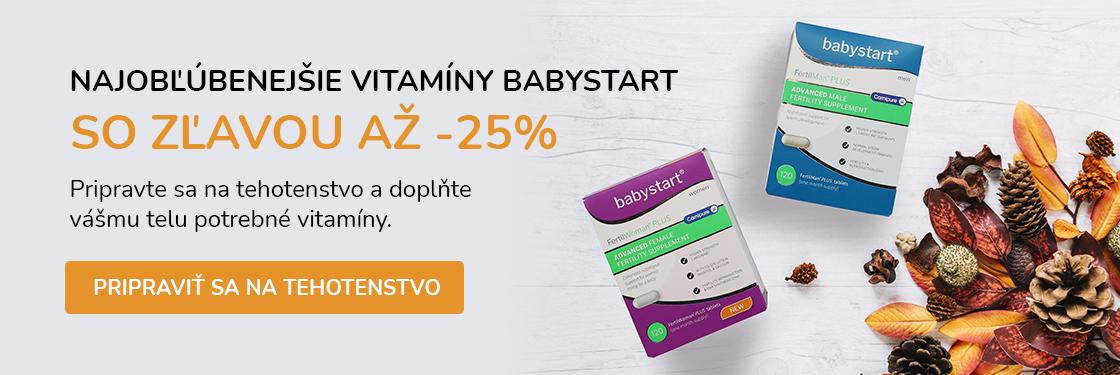 Vitamínový pelech babystart v zľave.