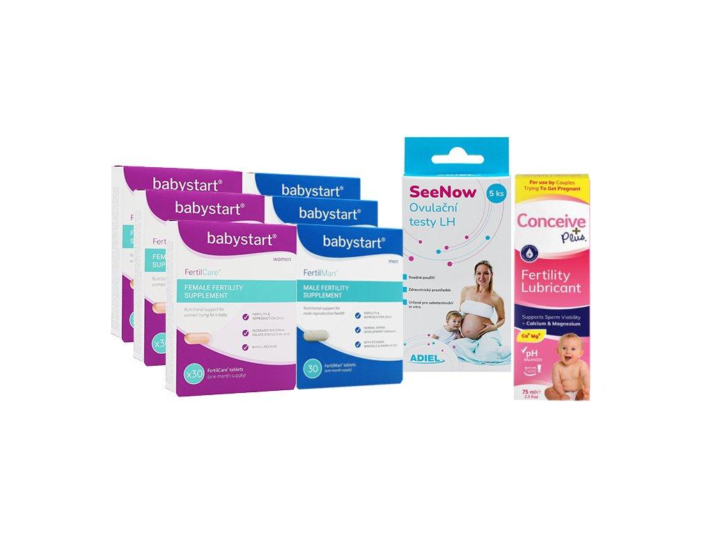 Intenzivní podpora plodnosti pro páry FertilCare, FertilMan, gel Conceive Plus, ADIEL SeeNow ovulační testy LH