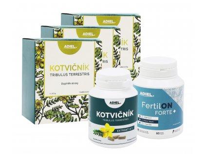 ADIEL vitalita muže – Kotvičník čaj, Kotvičník zemní, vitamíny FertilON forte plus
