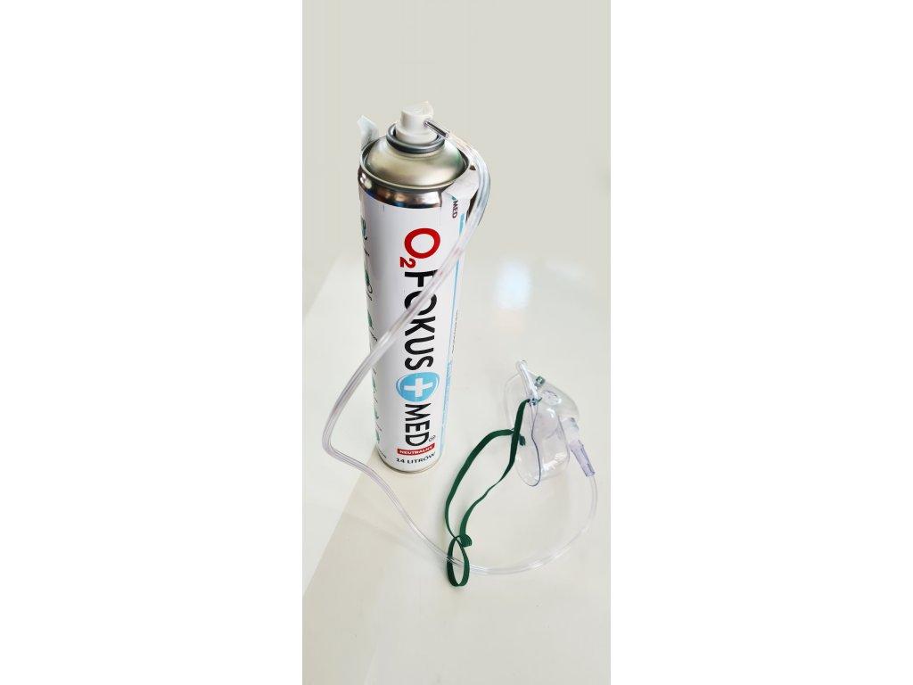 O2 - Lékařský inhalační kyslík v plechovce 99,5%  14 litrů  vhodný i pro udržení pozornosti ( cestování, škola atd.)
