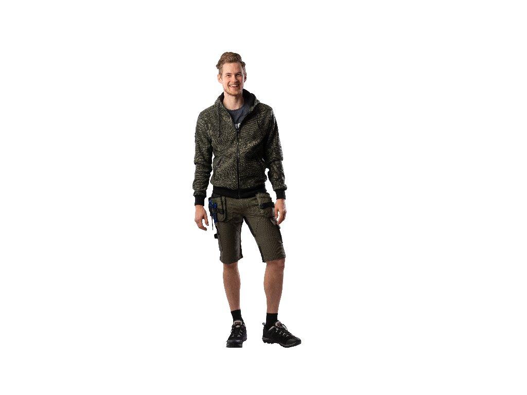ProM EREBOS Shorts green  strečové pracovní kraťasy