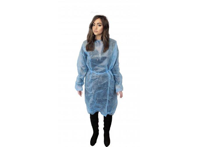 Plášť návštěvnický andělíček -  modrý/bílý - 20G/M²