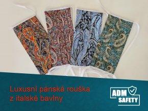 PAISLEY ADM rouška  luxusní italská bavlna