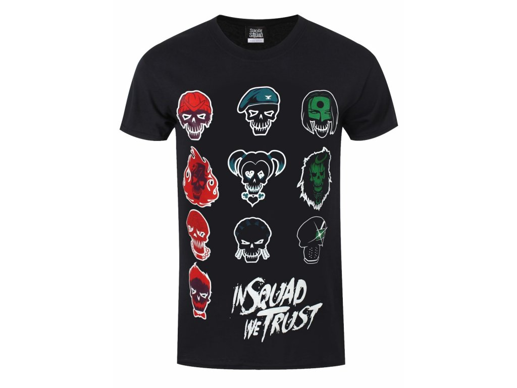 Pánske tričko SUICIDE SQUAD IN SQUAD FACES