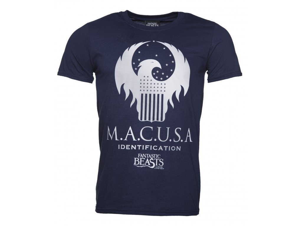 TS Mens Navy MACUSA Silver Logo Fantastic Beasts T Shirt 14 99 HR