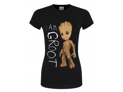 Dámske Tričko MARVEL GUARDIANS OF THE GALAXY VOL 2 I AM GROOT SCRIBBLES