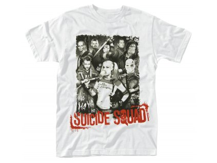 suicide squad pose red text t shirt