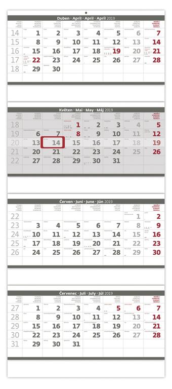 Čtyřměsíční kalendáře