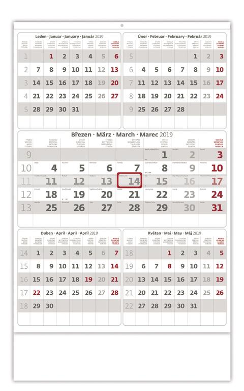 Pětiměsíční kalendář
