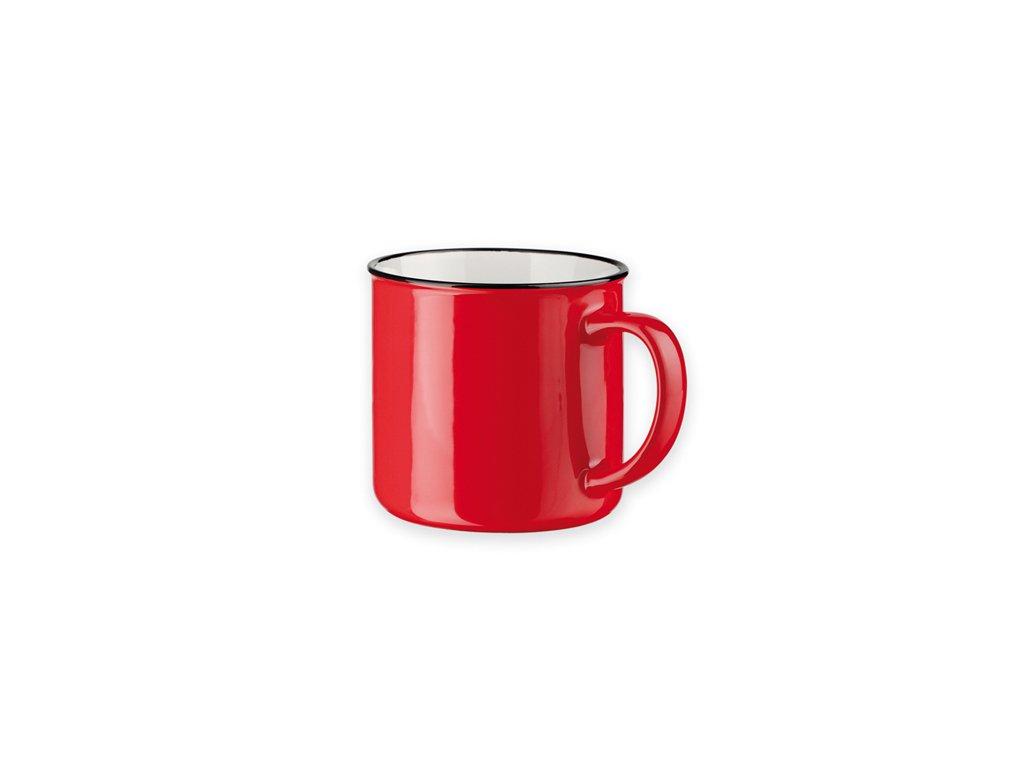 M803410-05|Reklamní předměty kuchyňské a reklamní dárky do kuchyně|Červené hrnky|červená|Hrnky