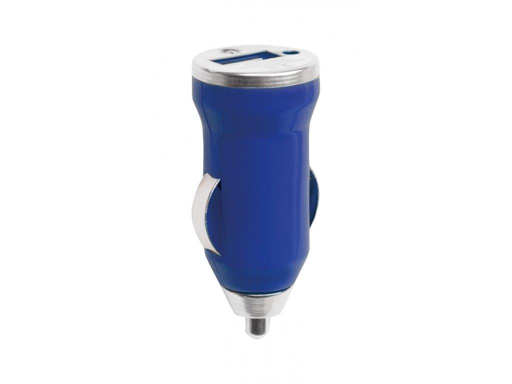 M741172- 06/USB NABÍJEČKA DO AUTA/ REKLAMNÍ AUTO NABÍJEČKY/ REKLAMNÍ PŘEDMĚTY S POTISKEM I BEZ POTISKU/ MODRÁ