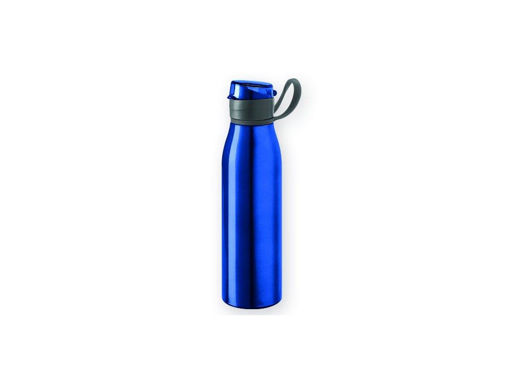 M721529-05 Reklamní kovové láhve na vodu Reklamní potisk Prodej a potisk láhví a flasek Modrá