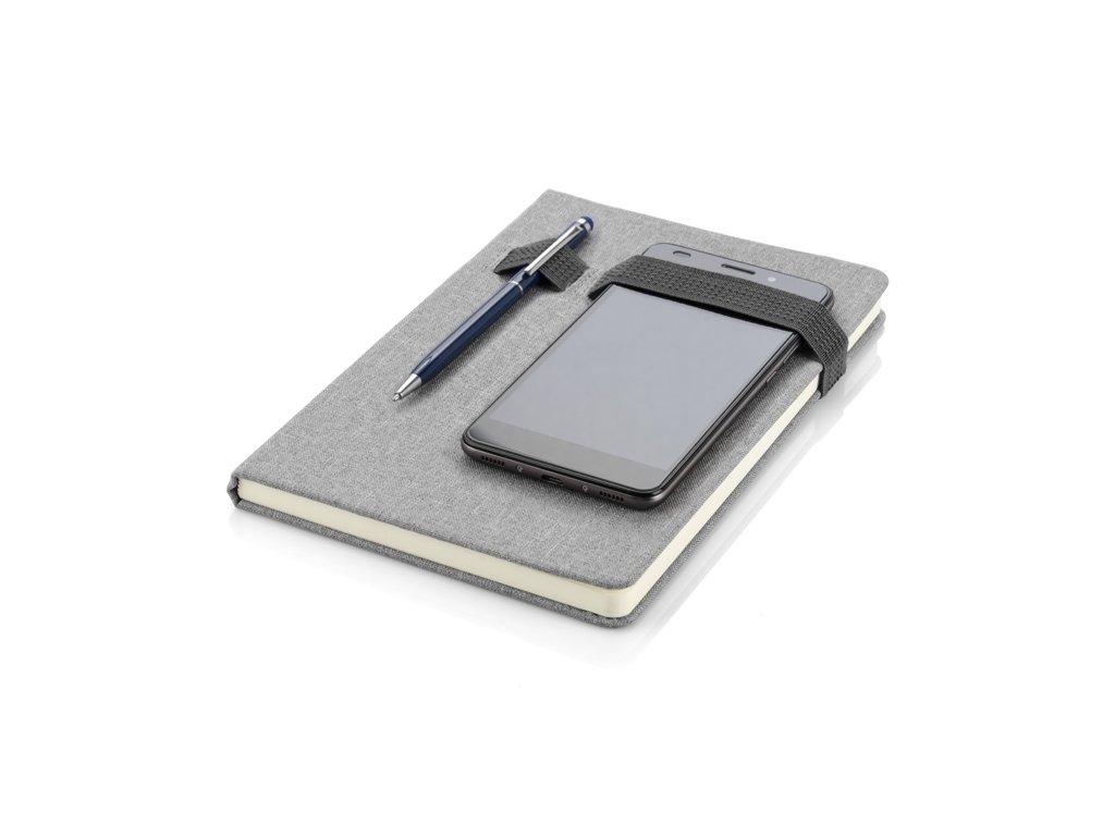0017691-02*papírový designový blok se zavíráním na gumičku*potisk na zápisníky*reklamní barevný zápisník