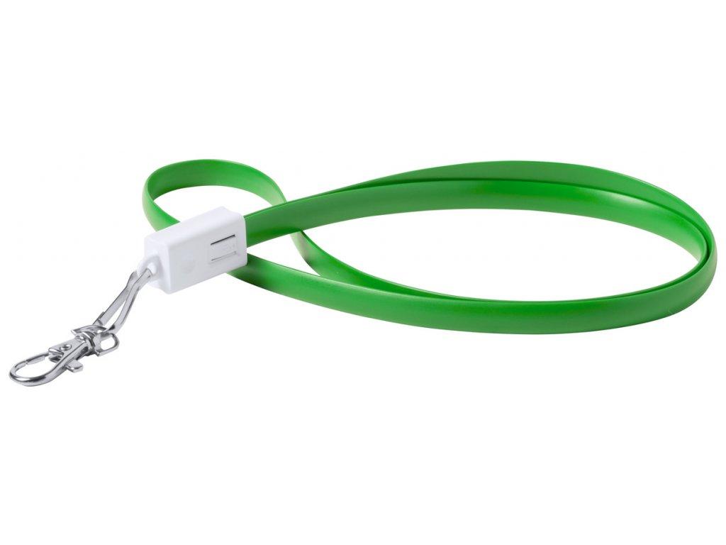 velký výběr usb kabelů pro reklamní potisk/ zelená