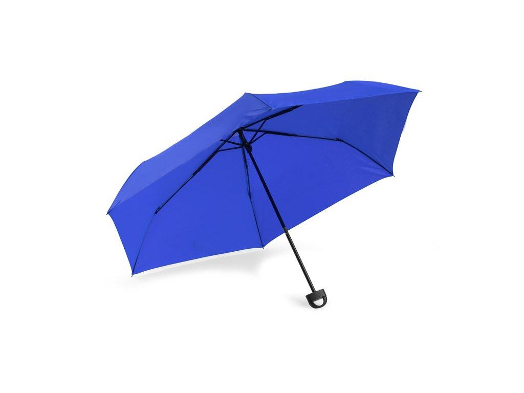 B37047-03 kvalitní značkové deštníky Modrý deštník s plastovou rukojetí s háčkem na zavěšení deštníku Potisku loga na deštníky Skládací deštníky Dámské deštníky Pánské deštníky Unisex deštníky 