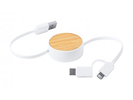 M721703/USB PROPOJOVACÍ KABELY PRO FIREMNÍ POTISK/ REKLAMNÍ USB DATOVÉ KABELY/ KANCELÁŘSKÉ DÁRKY PRO FIRMY/PŘÍRODNÍ