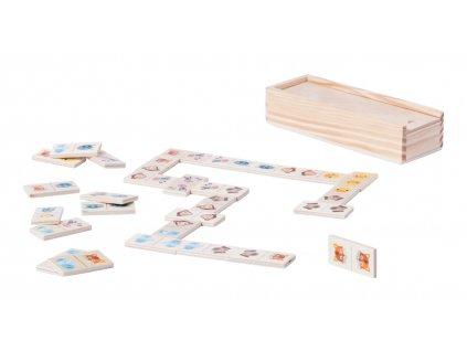 M781823/ DOMINO dětské dřevěné skládací hry a hračky pro malé a větší děti/ do školky/ předškolní děti/ reklamní hračky pro děti