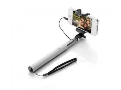 B09056-01|Teleskopická selfie tyč|Dlouhá selfie tyč|Reklamní potisk|Firemní dárky s potiskem i bez potisku|Bílá