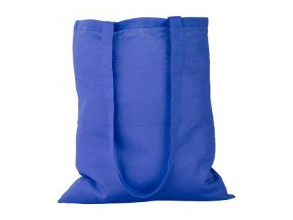 M731735 06/plátěná taška na nákupy. 100% bavlna, do ruky i přes ramenO/ MODRÁ