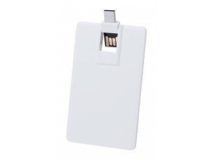 M721336 16gb / USB DISKY V BÍLÉ BARVĚ NA PLNOBAREVNÝ A CELOPLOŠNÝ POTISK OBRÁZKEM LOGEM FIRMY, ULTRA TENKÉ A PLOCHÉ USB DISKY SE ZASUNOVACÍM MECHANISMEM/ REKLAMNÍ USB DISKY