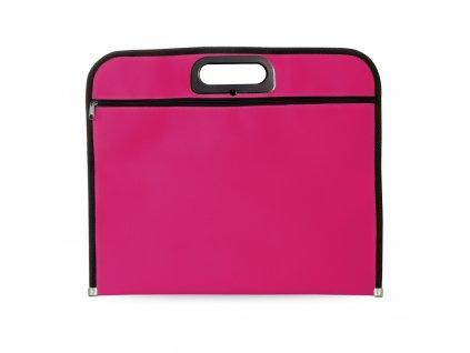M731309- 25/Kancelářske tašky na pracovní spisy se zipem| polyesterová taška na dokumenty/ RŮŽOVÁ