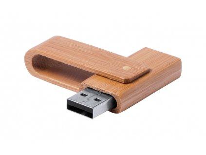 M781516 16gb/ BAMBUSOVÝ USB FLASH DISK/ REKLAMNÍ USB FLASH DISKY S POTISKEM LOGA FIRMY/PŘÍRODNÍ