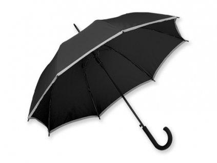 M808407-10|Reklamní deštníky|Reflexní deštníky| černá  deštník holový santini s automatickým otvíráním a plastovou rukojet|černá|í