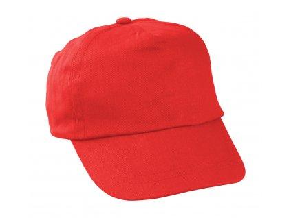 M731937 05 ČERVENÁ/ reklamní čepice s kšiltem pro děti/ letní bavlněná kšiltovka pro malé děti do skolky