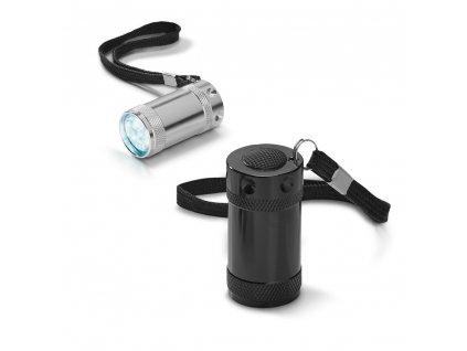 M791415  mix barev|Hliníková svítilna s poutkem na ruku|Reklamní svítilny|Reklamní potisk a prodej svítilen