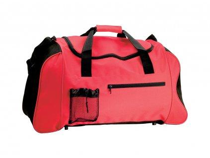 M731655- 05 /|REKLAMNÍ CESTOVNÍ A SPORTOVNÍ TAŠKY|Turistické tašky a batohy| cestovní taška s popruhem přes rameno/ ČERVENÁ